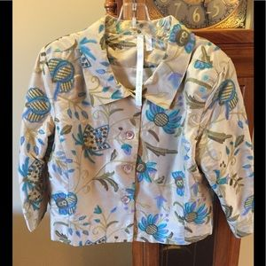 Debra DeRoo Silk Jacket Blazer Sz Medium